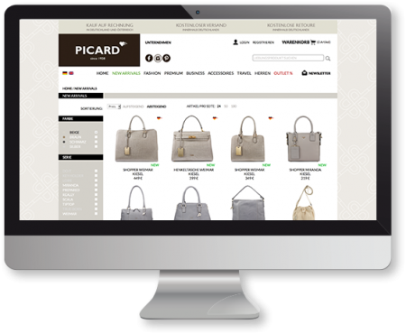 PICARD-Lederwaren Onlineshop