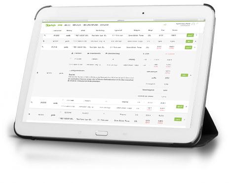 gax-System Auftragsabwicklung Tablet