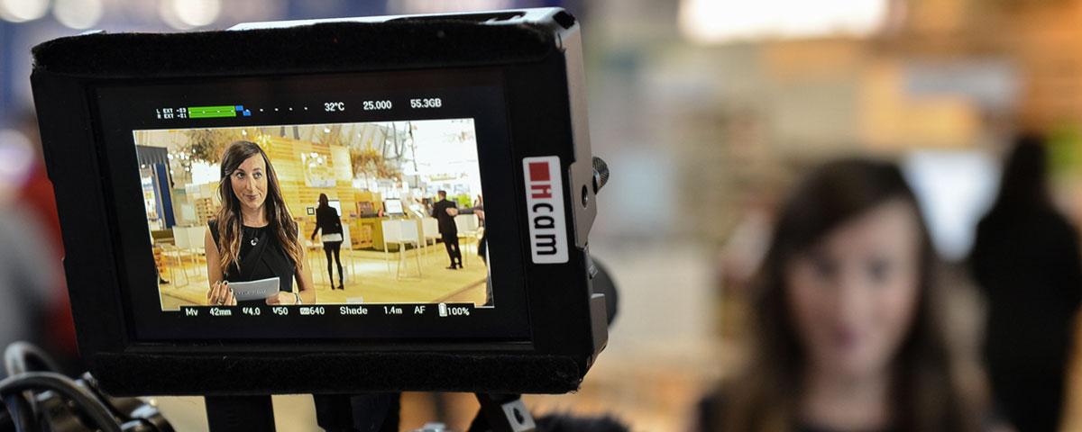 Videodreh auf der LogiMAT in Stuttgart.