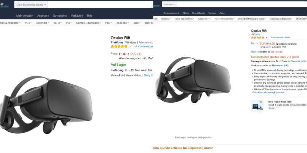 Schnäppchenjäger können sich zukünftig womöglich über Rabatte wie die in Italien um 150 Euro günstigere VR-Brille Oculus Rift freuen. Durch die Aufhebung der Grenzen könnten Shopendungen wegfallen und auch die Webshops vereinheitlicht werden.