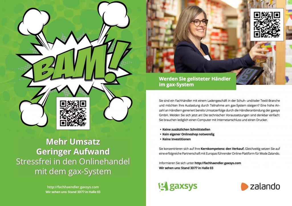 Die gaxsys GmbH ist auf der GDS 2017 in Düsseldorf mit eigenem Stand vertreten.