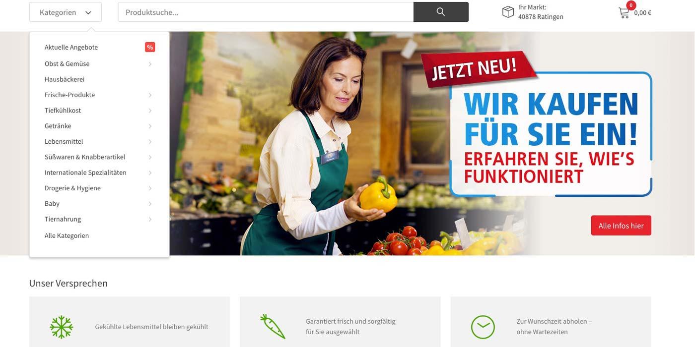 Real führt Onlineshop für Food ein.