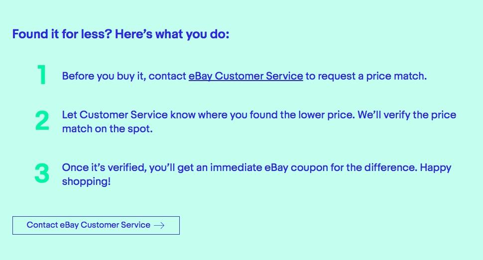 Tiefpreis - Kunden müssen beim Kundenservice von Ebay anrufen.