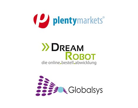 api-partner plentymarkets, dreamrobot, globalsys