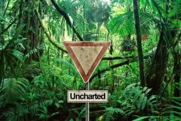 Uncharted Schild im Urwald